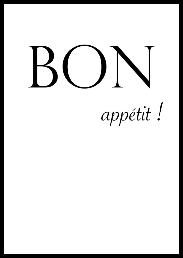 Affiche Bon Appetit