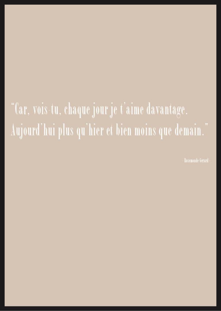 Citation Amour Rosemonde Gerard