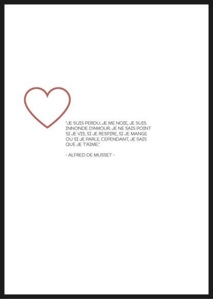 Affiche Citation Amour Alfred de Muset