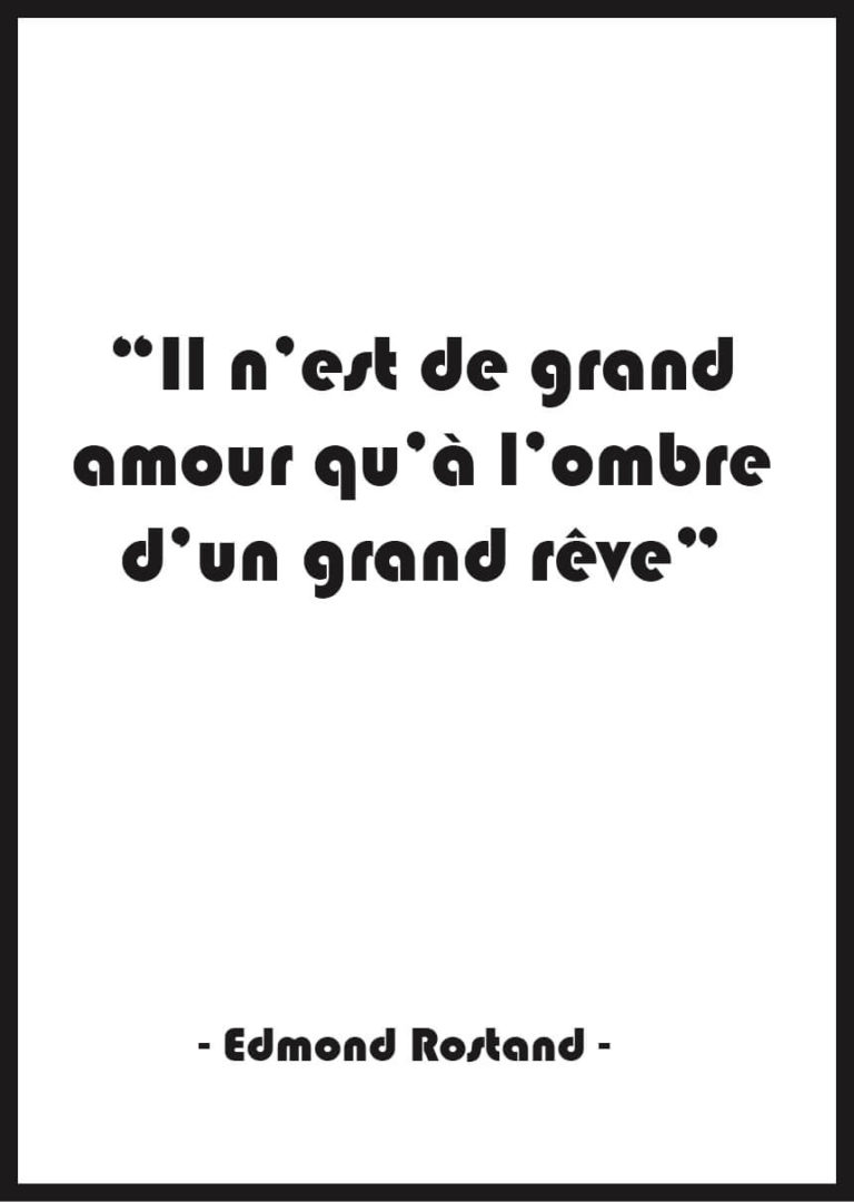 affiche citation amour noir