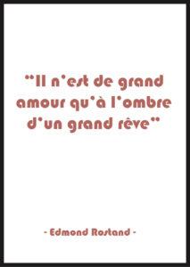 affiche citation amour rouge