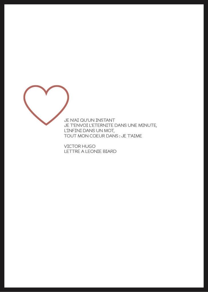 affiche citation amour victor hugo