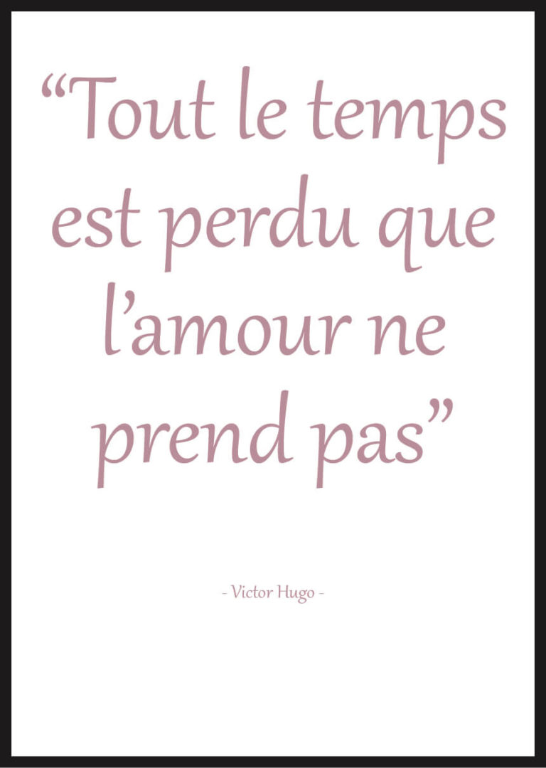 affiche citation amour victor hugo