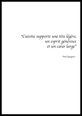 Citation Cuisine Paul Gaugin