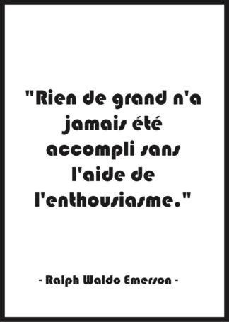 Affiche citation Motivation Ralph Waldo Emerson