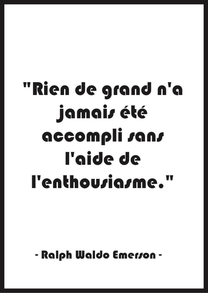 Affiche citation Motivation Ralph Waldo Emerson