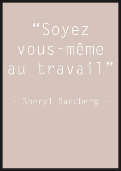 Affiche Citation Sheryl Sandberg beige