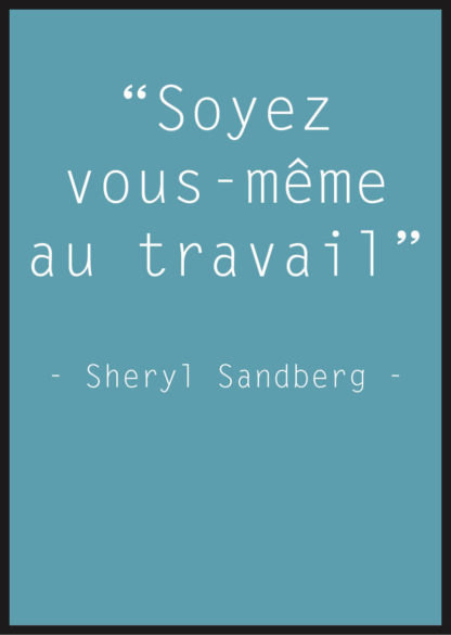 Affiche Citation Sheryl Sandberg bleu
