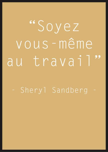 Affiche Citation Sheryl Sandberg jaune