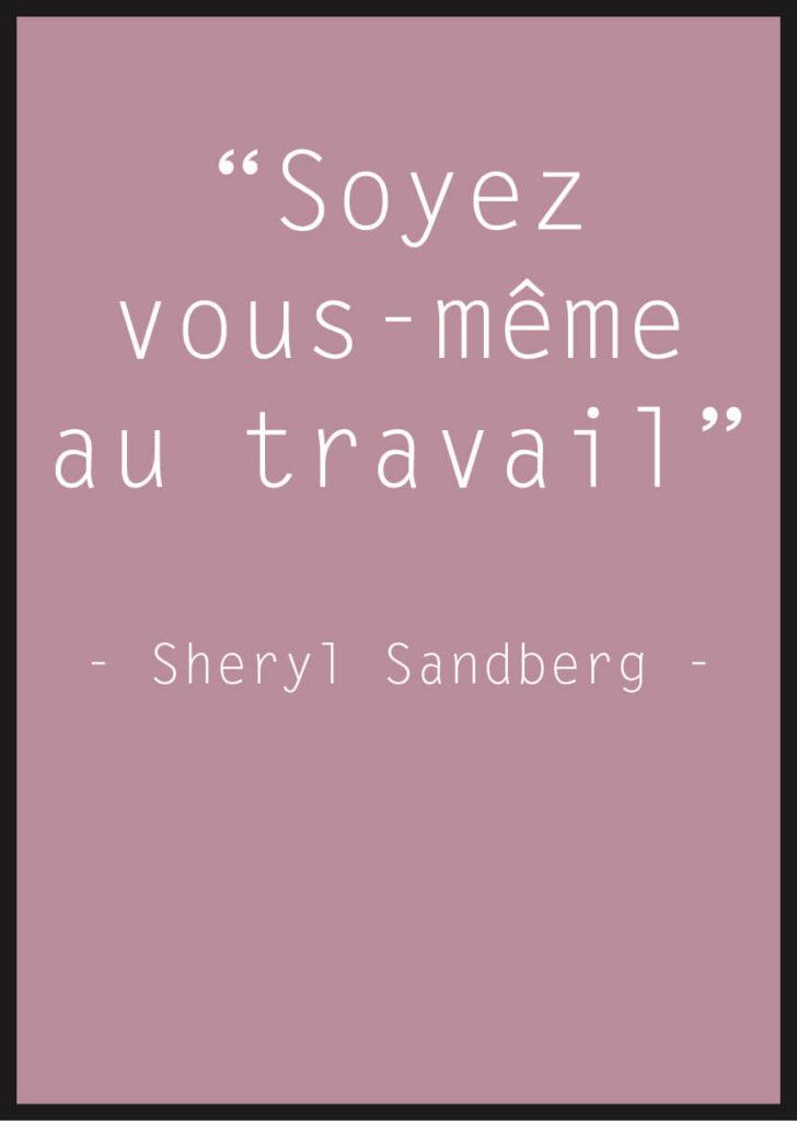 Affiche Citation Sheryl Sandberg rose