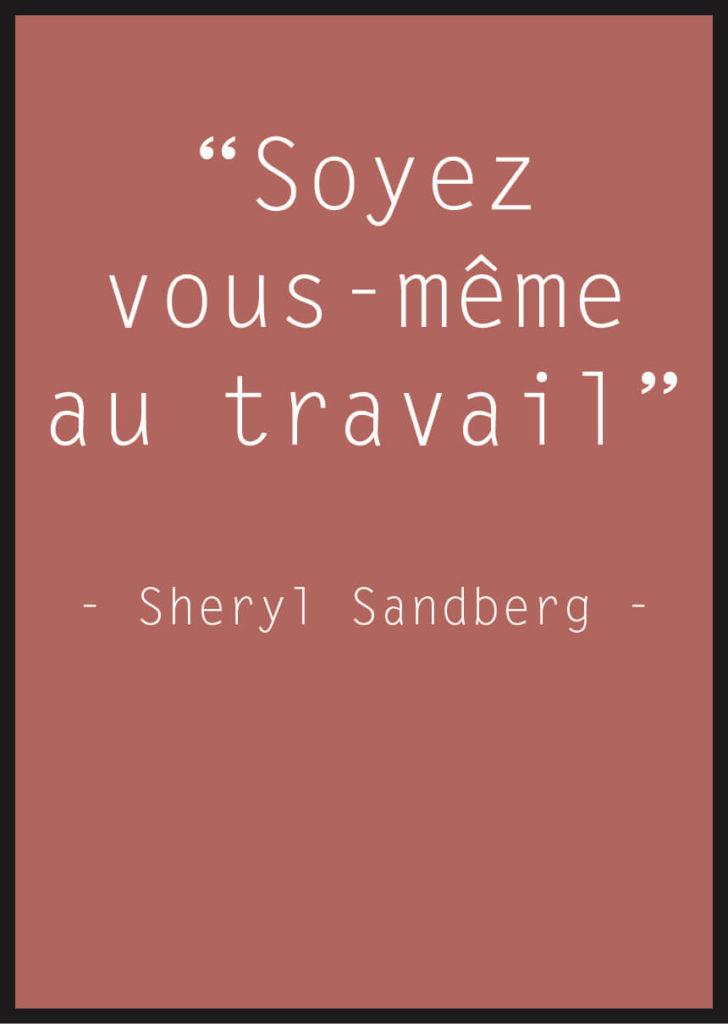 Affiche Citation Sheryl Sandberg rouge