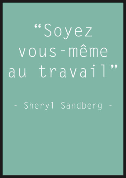 Affiche Citation Sheryl Sandberg