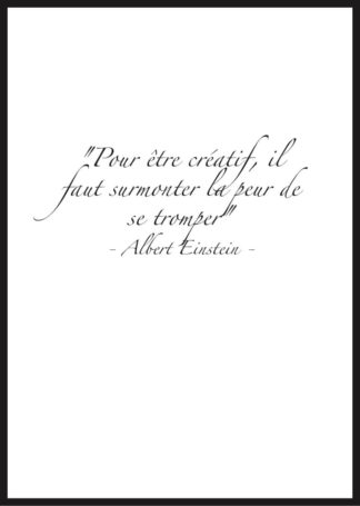 Affiche citation motivation einstein