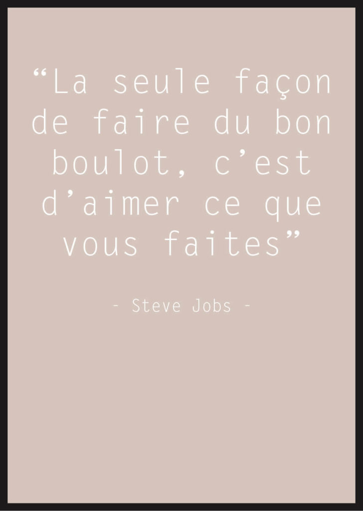 affiche citation steve jobs beige
