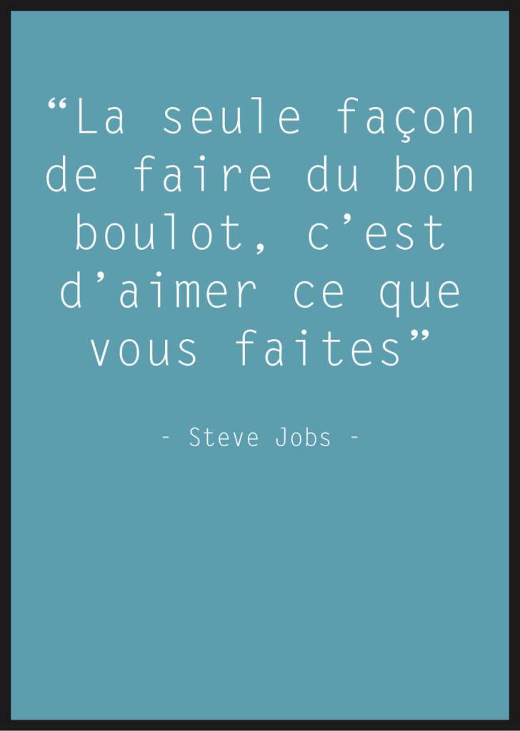 affiche citation steve jobs bleu