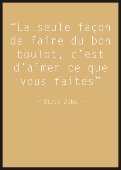 affiche citation steve jobs jaune