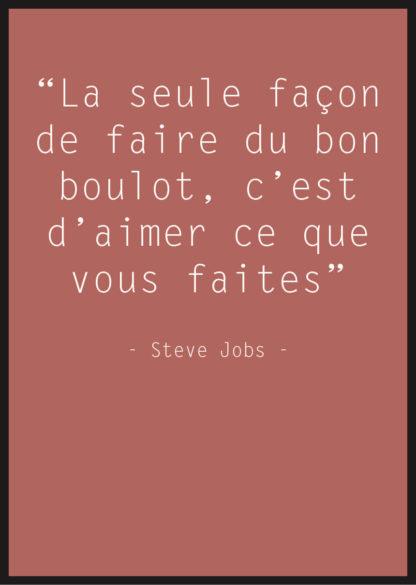affiche citation steve jobs rouge