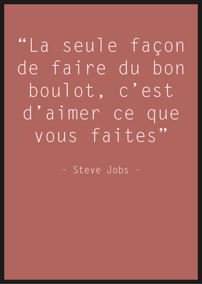 affiche citation steve jobs rouge
