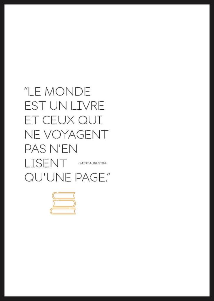 Affiche Citation Voyage Saint Augustin