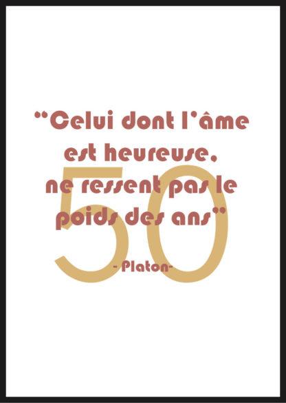 Affiche anniversaire 50 ans Platon