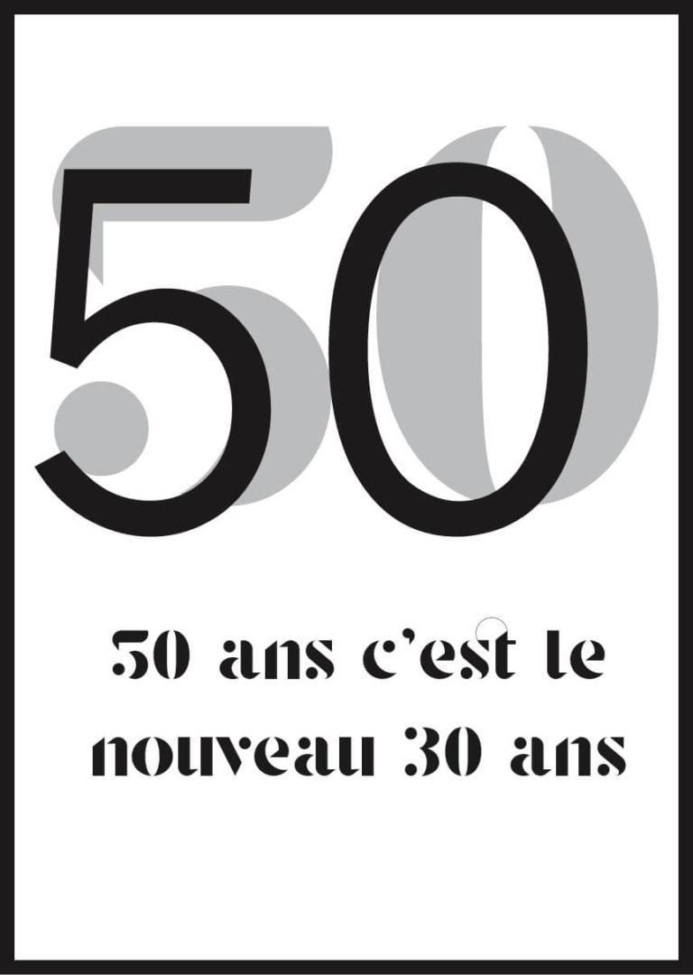 Affiche anniversaire 50 ans