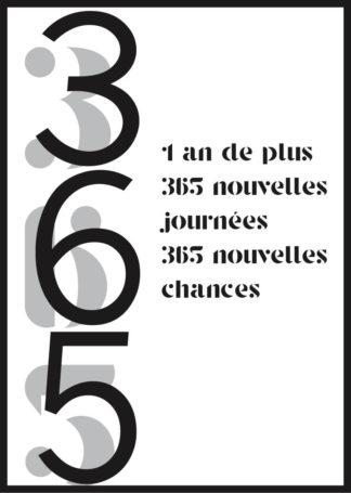 Affiche 365 nouvelles chances anniversaire