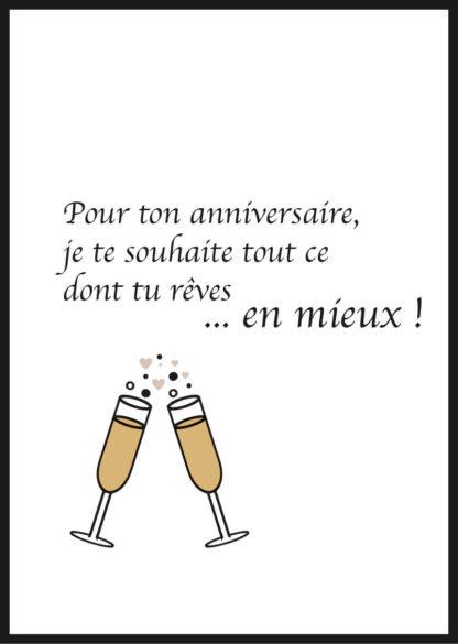 Affiche Anniversaire Champagne