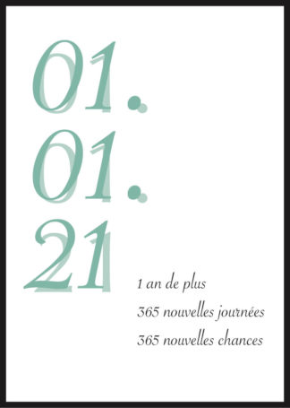 Affiche anniversaire personnalisée graphique