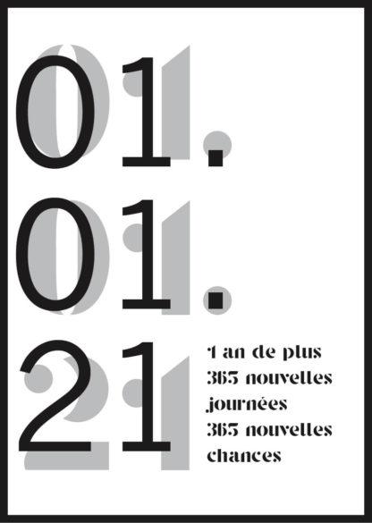 Affiche anniversaire personnalisée 365 chances