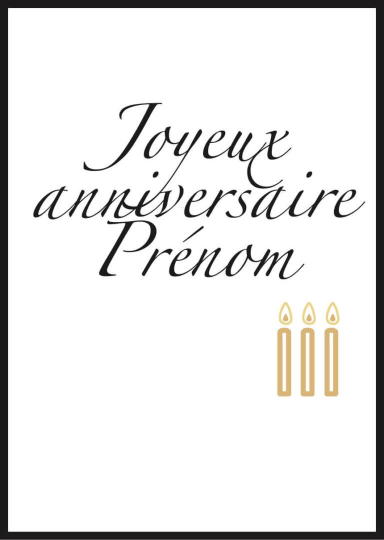 Affiche joyeux anniversaire personnalisée