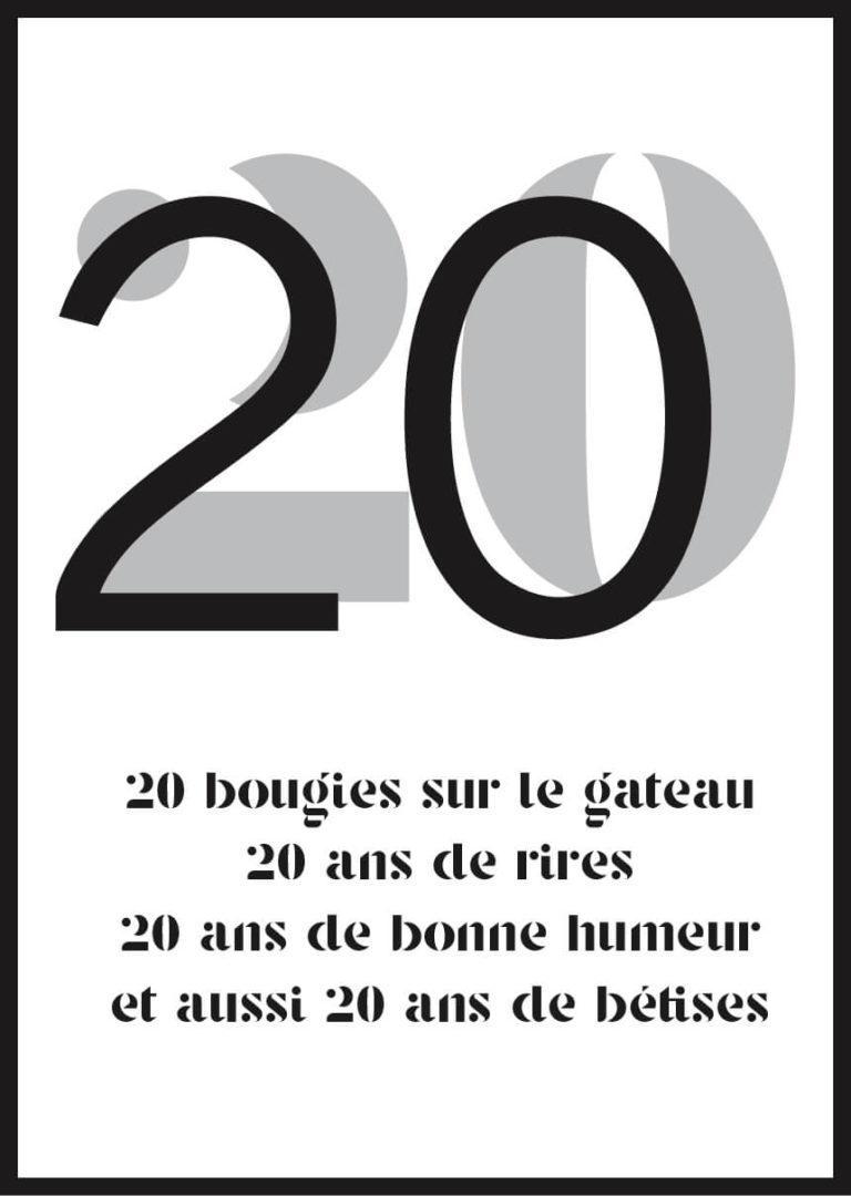 Affiche anniversaire personnalisée bougies