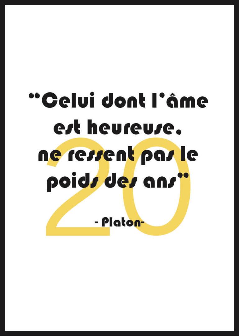Affiche anniversaire personnalisée Platon