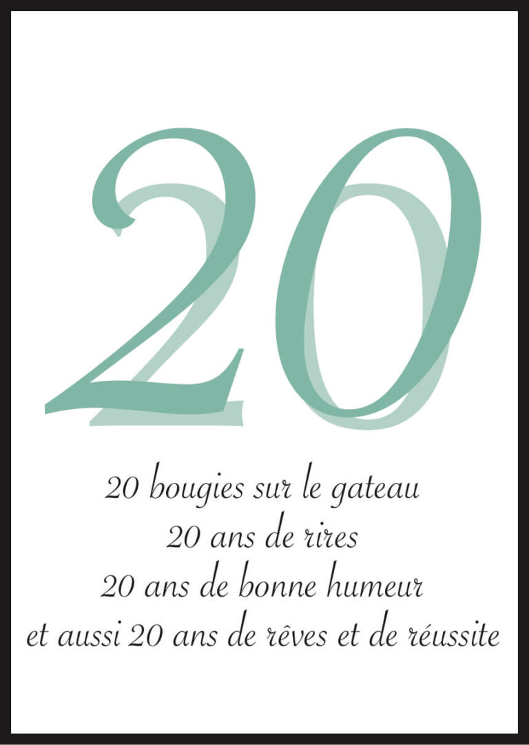 Affiche anniversaire personnalisée rêves et réussite