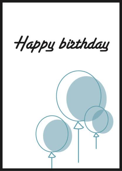 Affiche happy birthday