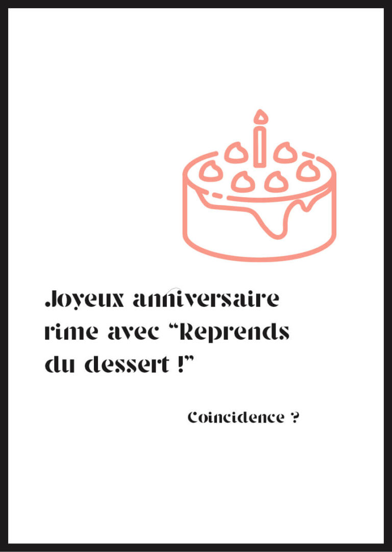 Affiche joyeux anniversaire dessert