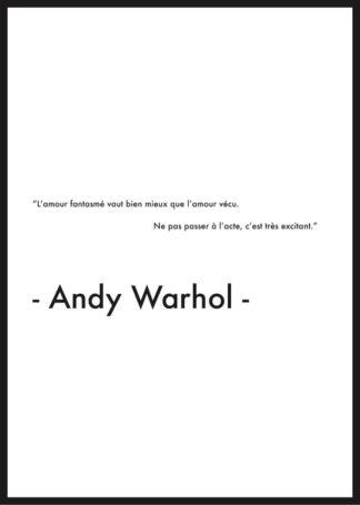affiche citation andy warhol amour