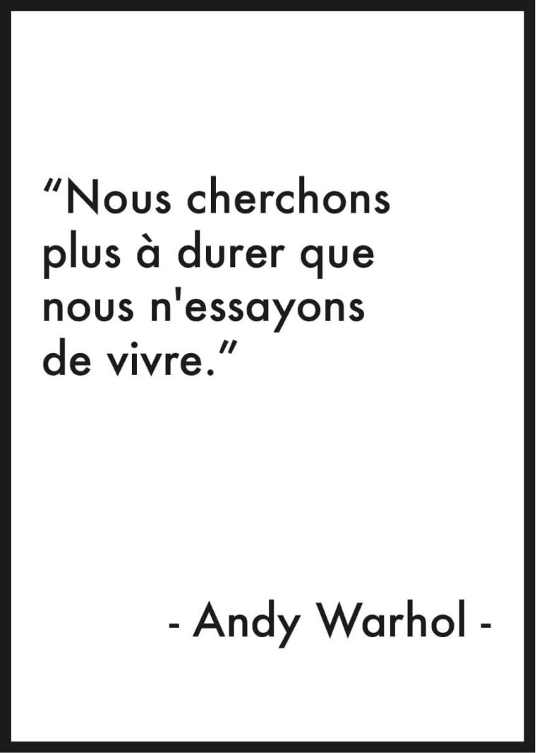 affiche citation andy warhol