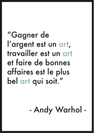 affiche citation andy warhol art