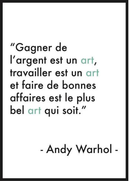 affiche citation andy warhol art