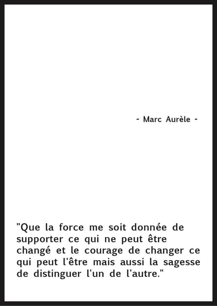 Affiche citation Marc Aurèle