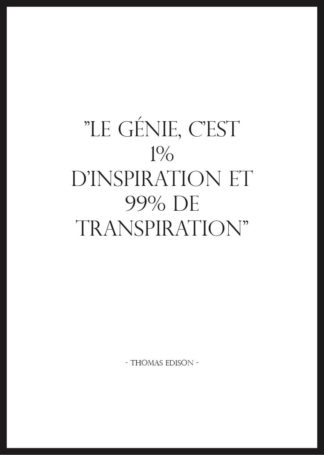 Affiche citation motivation thomas edison
