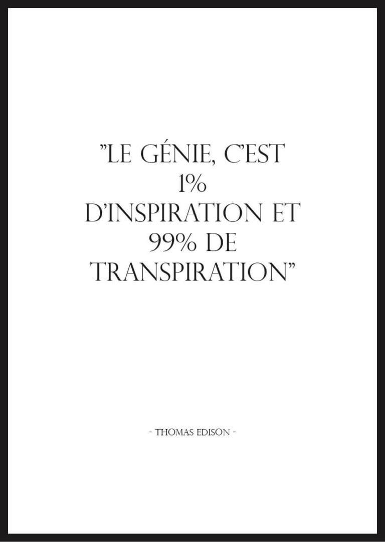 Affiche citation motivation thomas edison