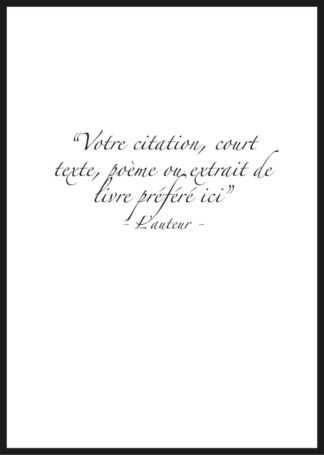 Citation personnalisee cursive