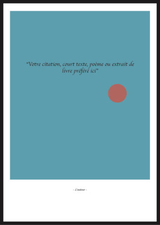 Citation Personnalisée bleu minimaliste