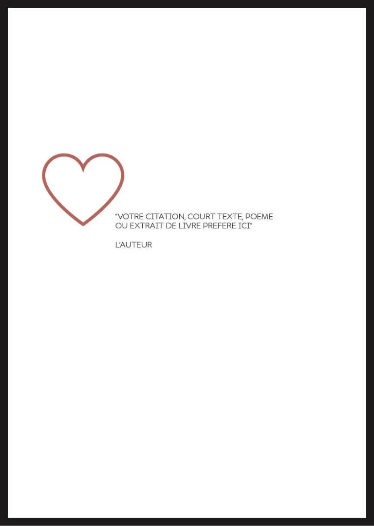 affiche citation personnalisée coeur