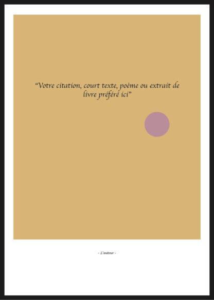 Citation Personnalisée jaune minimaliste