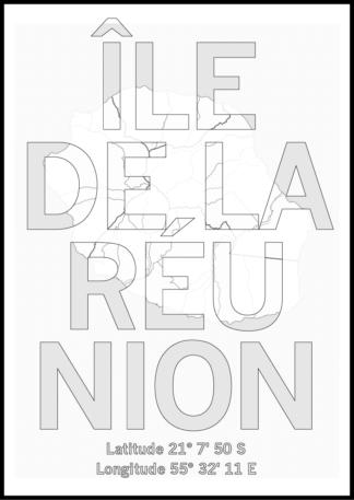 Affiche Ile de la Réunion