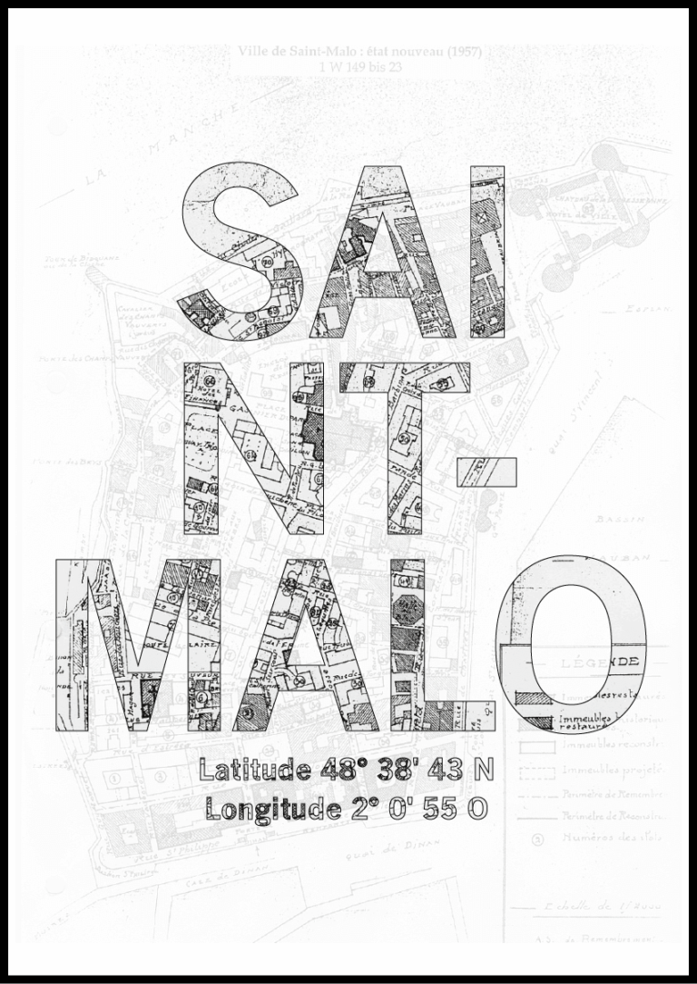 Affiche Saint Malo