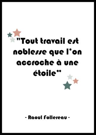 Affiche citation Raoul Follereau