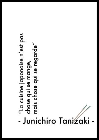 Affiche citation Junichiro Tanizaki